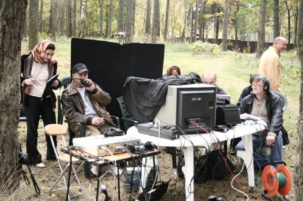At filming the feature film Landau (24)